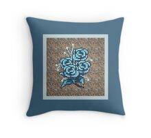 8-bit flower throw pillow Throw Pillow