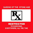 Queens of the Stone Age Rated RX Deluxe Edition Pillow by AluminiumEagles