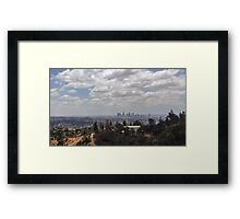 Hiking in LA Framed Print