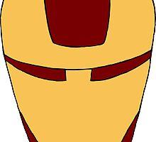 Minimalistic Iron Man by laniemccarryart