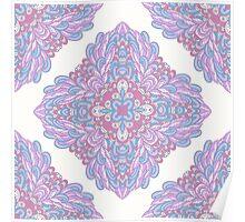 Violet ornamental floral design Poster