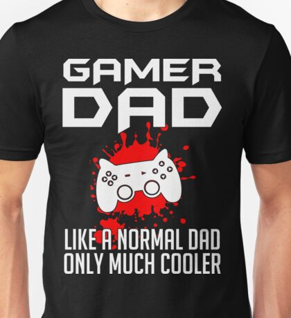 Gamer Dad Mens Funny Video Game Unisex T-Shirt