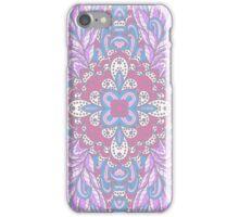 Violet ornamental floral design iPhone Case/Skin