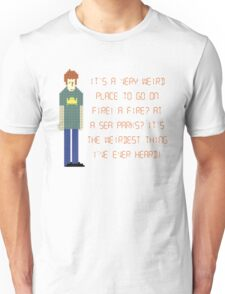 The IT Crowd – A Fire at Sea Parks?! Unisex T-Shirt