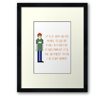 The IT Crowd – A Fire at Sea Parks?! Framed Print