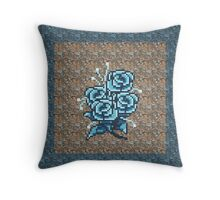 8-bit flower throw pillow2 Throw Pillow