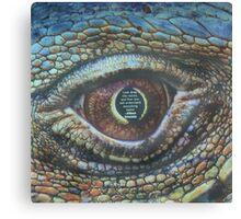 Albert Einstein snake eye Canvas Print