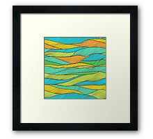 Striped bright hand drawn pattern Framed Print