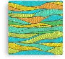 Striped bright hand drawn pattern Canvas Print