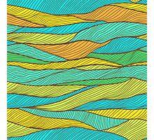 Striped bright hand drawn pattern Photographic Print
