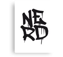 Cool Nerd Graffiti Canvas Print