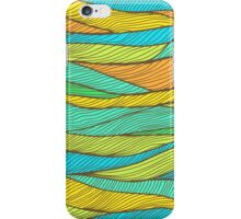 Striped bright hand drawn pattern iPhone Case/Skin