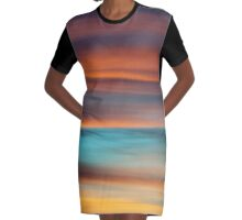 Night Sky Graphic T-Shirt Dress