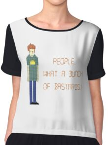 The IT Crowd – People, What a Bunch of Bastards! Chiffon Top