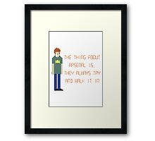 The IT Crowd – The Thing About Arsenal Framed Print