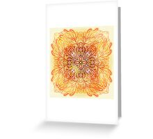 Orange mandala Greeting Card