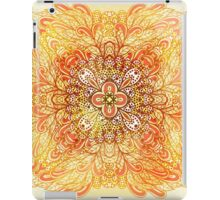 Orange mandala iPad Case/Skin
