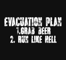 Evacuation Plan 1 Grab beer 2 Run like hell by SlubberBub