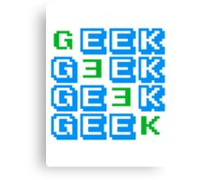 Cool Geek Muster Design Canvas Print