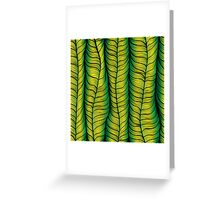 Green illusion Greeting Card