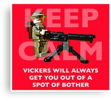 Keep Calm, Vickers will help. Canvas Print