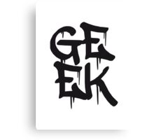 Cool Geek Graffiti Canvas Print