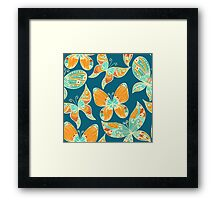 Butterflies. Hand drawn pattern Framed Print