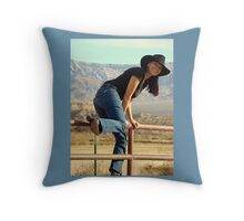 All American Cowgirl Throw Pillow