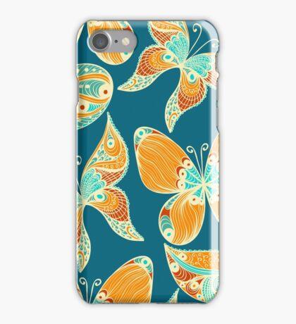 Butterflies. Hand drawn pattern iPhone Case/Skin