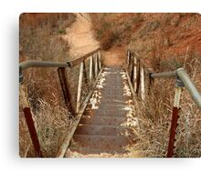 rusty stairs Canvas Print