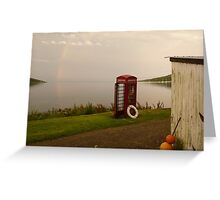 Isle of Rum - telephone box at the end of the world Greeting Card