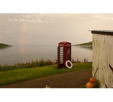 Isle of Rum - telephone box at the end of the world Photographic Print