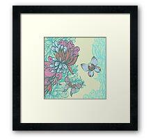 Butterfly & Rose Framed Print