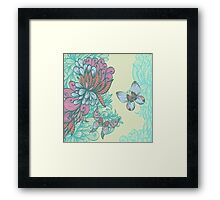 Butterfly & Rose Framed Print