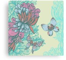 Butterfly & Rose Canvas Print