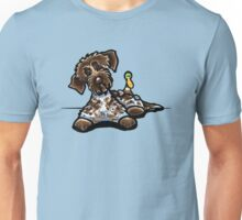 Wirehaired Pointing Griffon & Duck Unisex T-Shirt