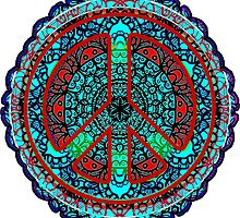 Peace Mandala Meditation - Visualize World Peace - Pray for Peace - by BagChemistry