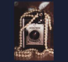 Vintage Camera & Pearls Kids Tee
