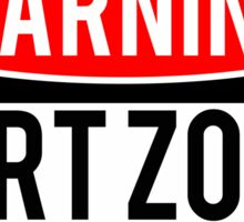 Warning - Fart Zone Sticker
