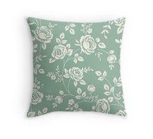 Rose Pattern (Duck Egg) Throw Pillow