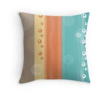 Modern Abstract Summer Nautical Decor Throw Pillow