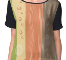 Modern Abstract Summer Nautical Decor Chiffon Top