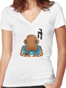 MiniWars: HammerHead Figure Women's Fitted V-Neck T-Shirt