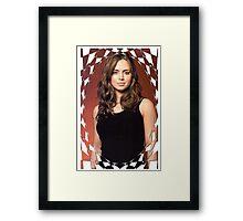 Buffy Angel Faith Eliza Dushku 1 Framed Print