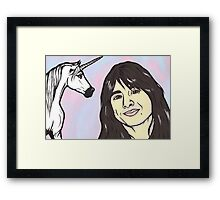 Steve Perry and Unicorn Framed Print