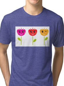 Cute colorful tulips - SPRING Designs Tri-blend T-Shirt