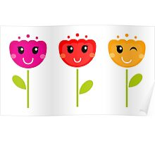 Cute colorful tulips - SPRING Designs Poster