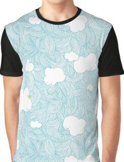 Cloud Pattern Graphic T-Shirt