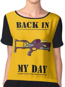 NERF TOY DESIGN- BACK IN MY DAY Women's Chiffon Top