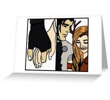 Critical Role - Vax and Keyleth hand holding Greeting Card